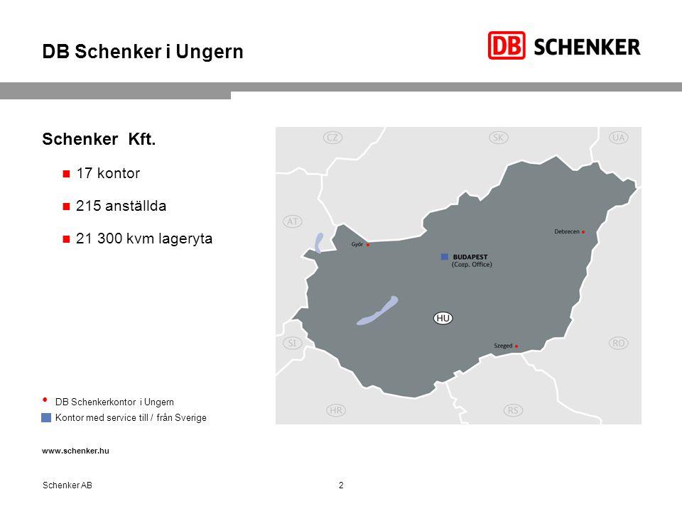 DB Schenker i Ungern Schenker Kft.