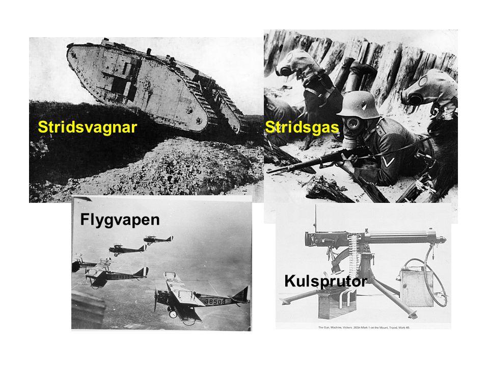 StridsvagnarStridsgas Flygvapen Kulsprutor
