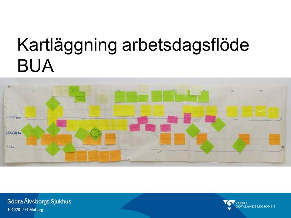 Södra Älvsborgs Sjukhus 101028 J-O Moberg Kartläggning arbetsdagsflöde BUA