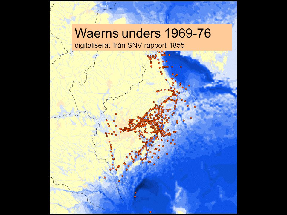 Waerns unders 1969-76 digitaliserat från SNV rapport 1855