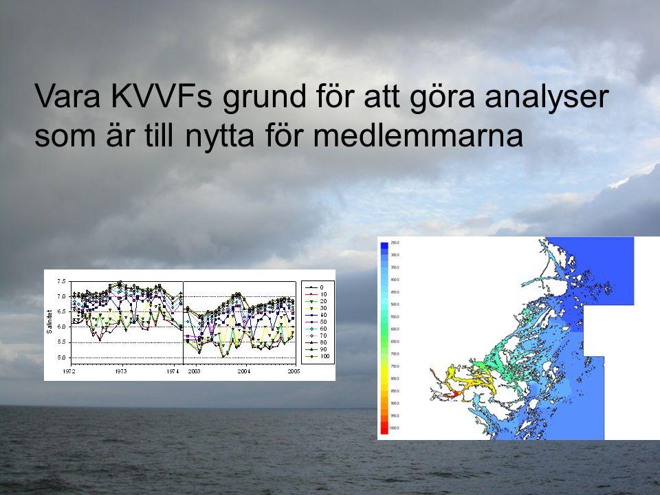 Vara KVVFs grund för att göra analyser som är till nytta för medlemmarna