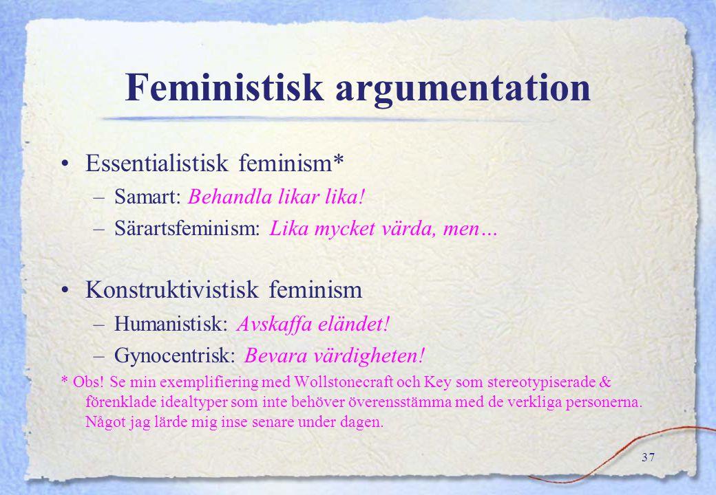 Adj. female/male (womanly/manly) feminine/masculine (honlig/hanlig) kvinnlig/manlig feminin/maskulin Sex/gender ≠ kön/genus sex gender kön genus Subst
