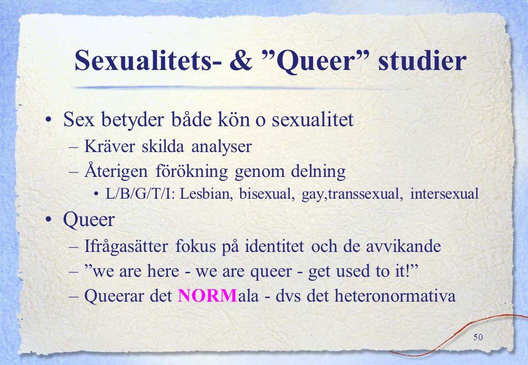 """49 Genustrubbel Judith Butler Genustrubbel """"queer"""" teori ≠ postfeminismFeministteori +""""queer"""" teori ≠ postfeminism Problematiserar –Kön≠genus –kön, re"""
