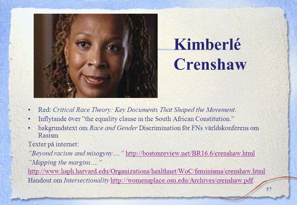 """56 Politisk eller solidaritetsidentitet """"Jag lägger själv vikt vid att jag är kvinna svart, lesbisk, mor, feminist… och håller samman med andra kvinno"""