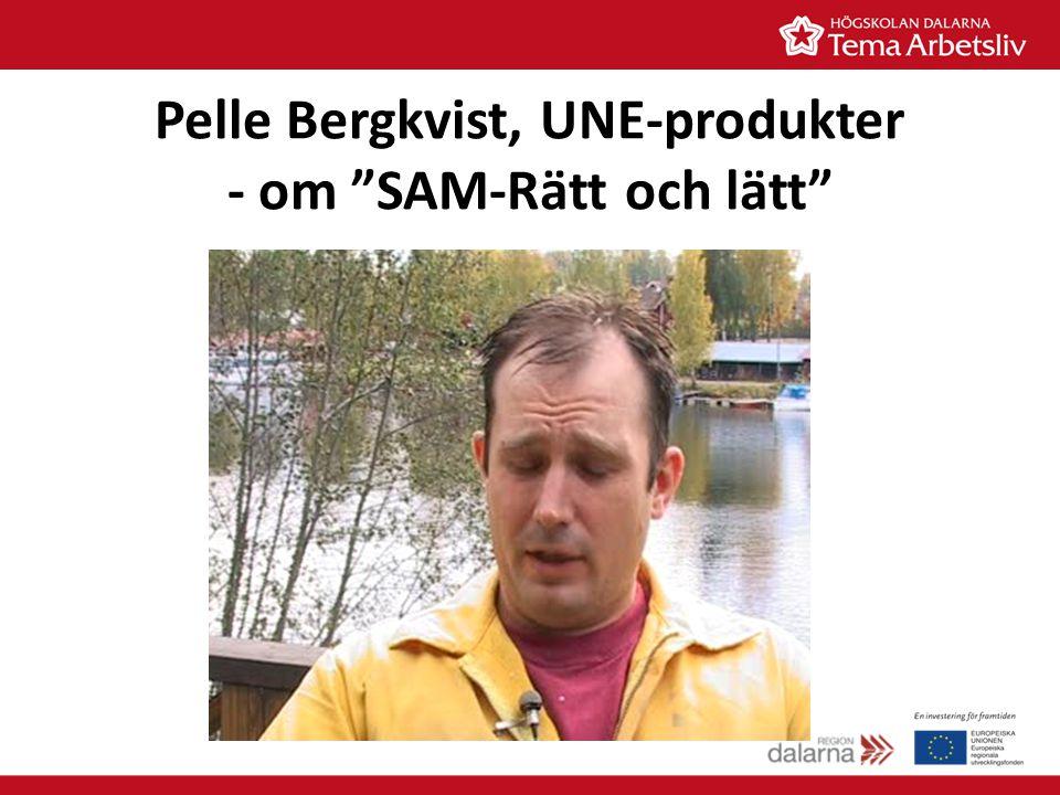 Pelle Bergkvist, UNE-produkter - om SAM-Rätt och lätt