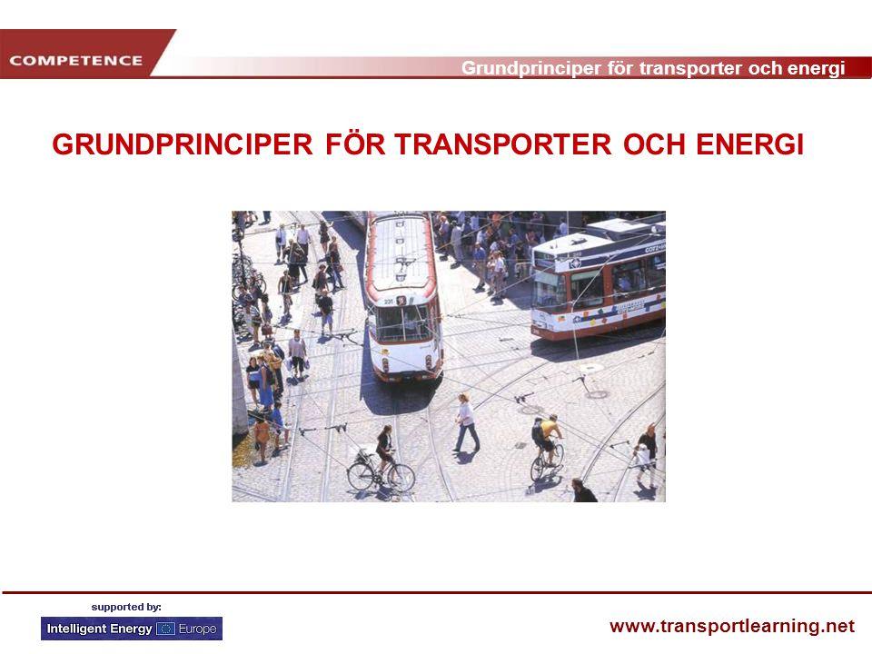 Grundprinciper för transporter och energi www.transportlearning.net GRUNDPRINCIPER FÖR TRANSPORTER OCH ENERGI