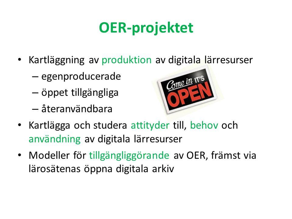 Resurser Tid mars 2008 - juni 2009 Anslag 900 tkr från openaccess.se-programmet Styrgrupp Kungl.