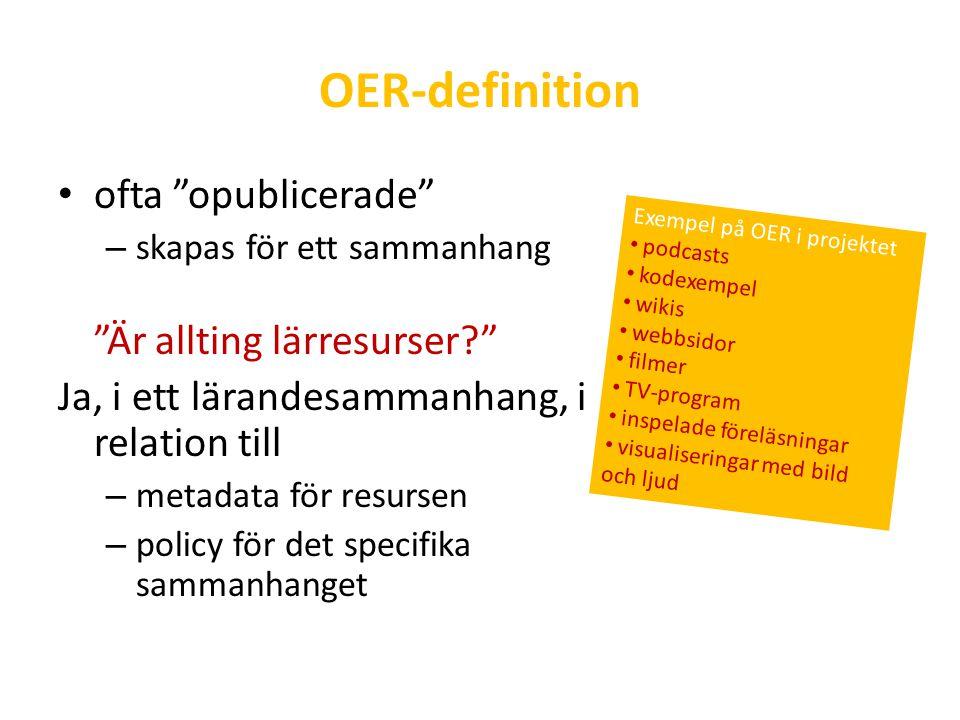 Interoperabilitet och metadata in- och utdata för arkiv med OER Metadatamodell – Dublin Core Education vs.