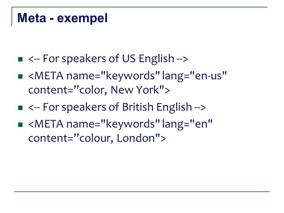 Meta - exempel