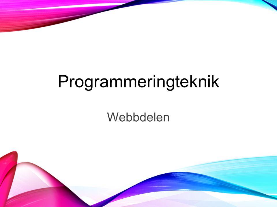 Programmeringteknik Webbdelen