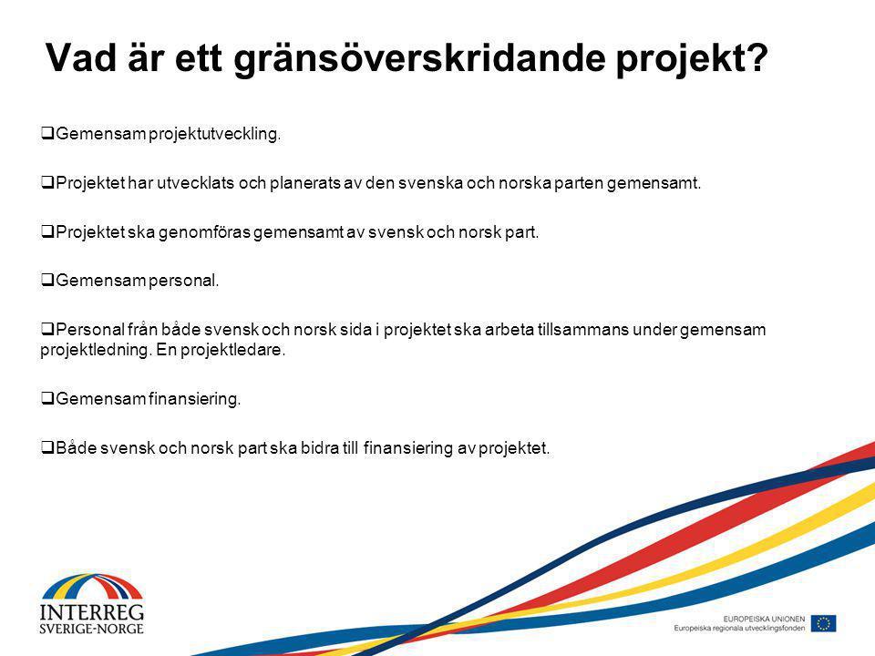 Vad är ett gränsöverskridande projekt.  Gemensam projektutveckling.