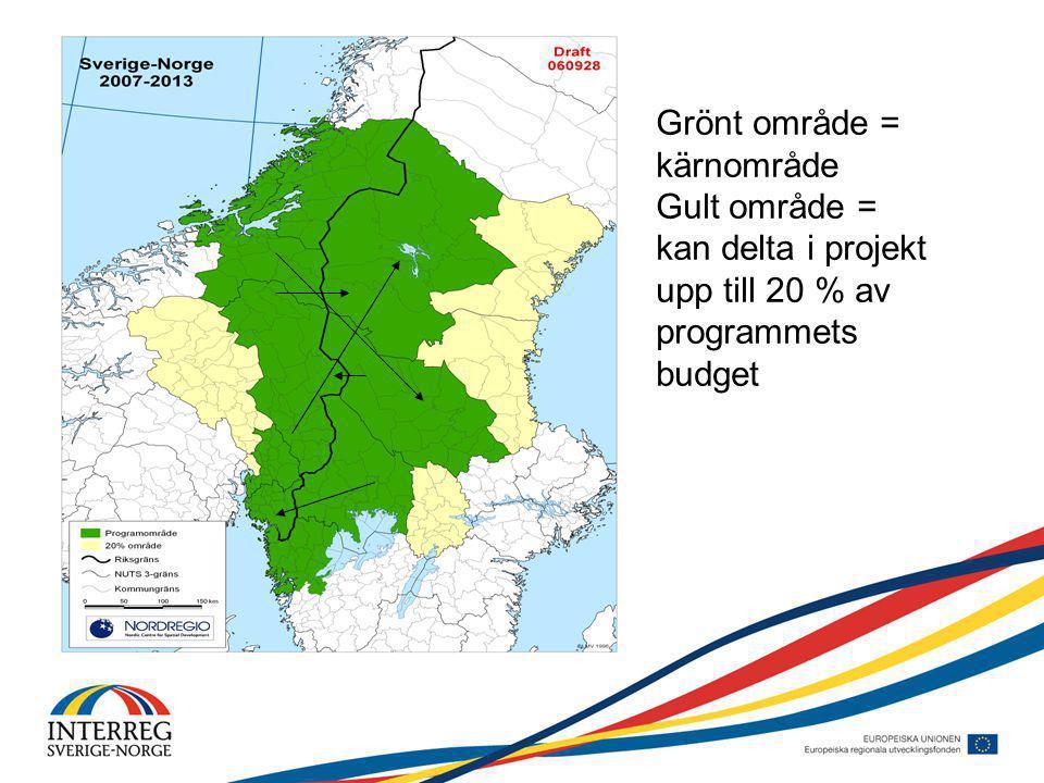 Mål och vision Vision Genom gränsöverskridande samarbete stärka regionens attraktivitet och konkurrenskraft Övergripande mål Ekonomisk stark region med en attraktiv livsmiljö A.