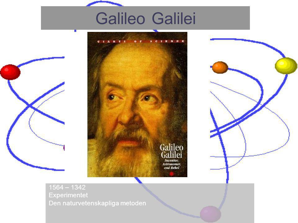 Galileo Galilei 1564 – 1342 Experimentet Den naturvetenskapliga metoden