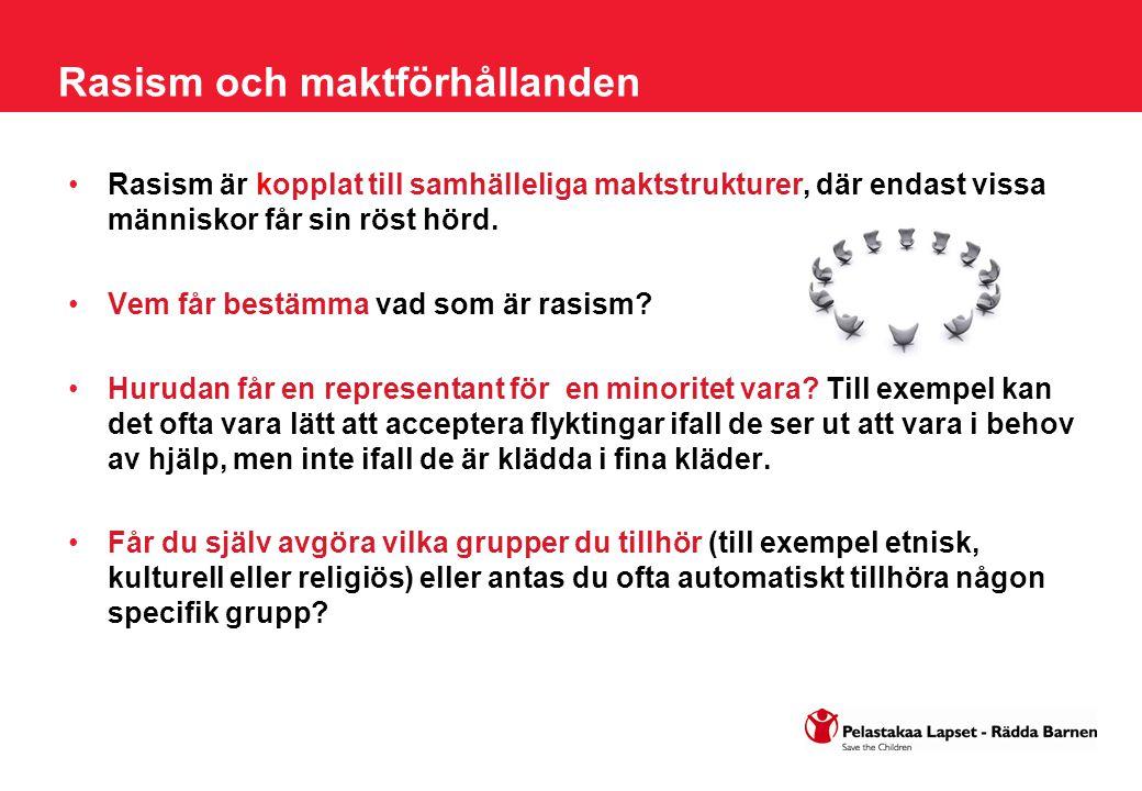 Finländare kanske är rasistiska, men invandrare är också rasistiska mot majoritetsbefolkningen Invandrare har också fördomar om finländare, och även de kan vara rasistiska mot majoritetsbefolkningen.