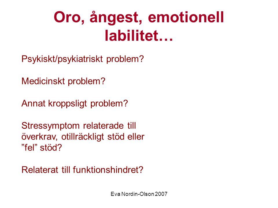 Eva Nordin-Olson 2007 Etiska dilemman Genomföra undersökningar, narkos.