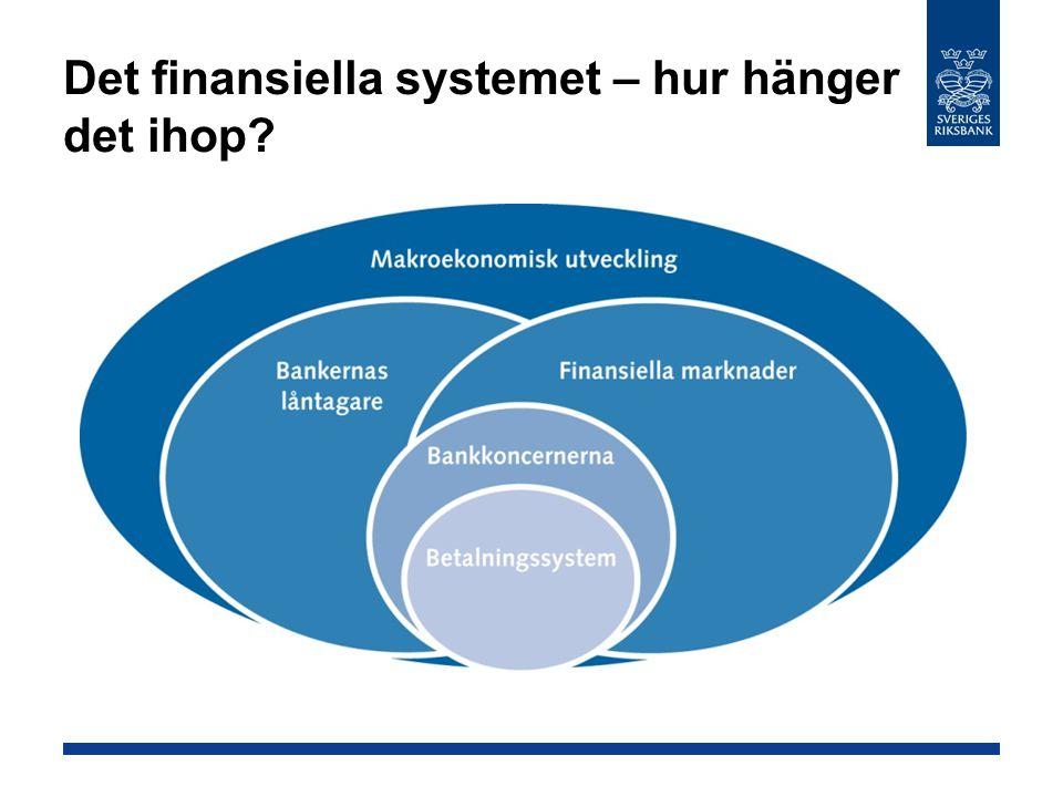 Det finansiella systemet – hur hänger det ihop?