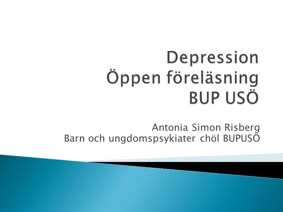 Antonia Simon Risberg Barn och ungdomspsykiater chöl BUPUSÖ