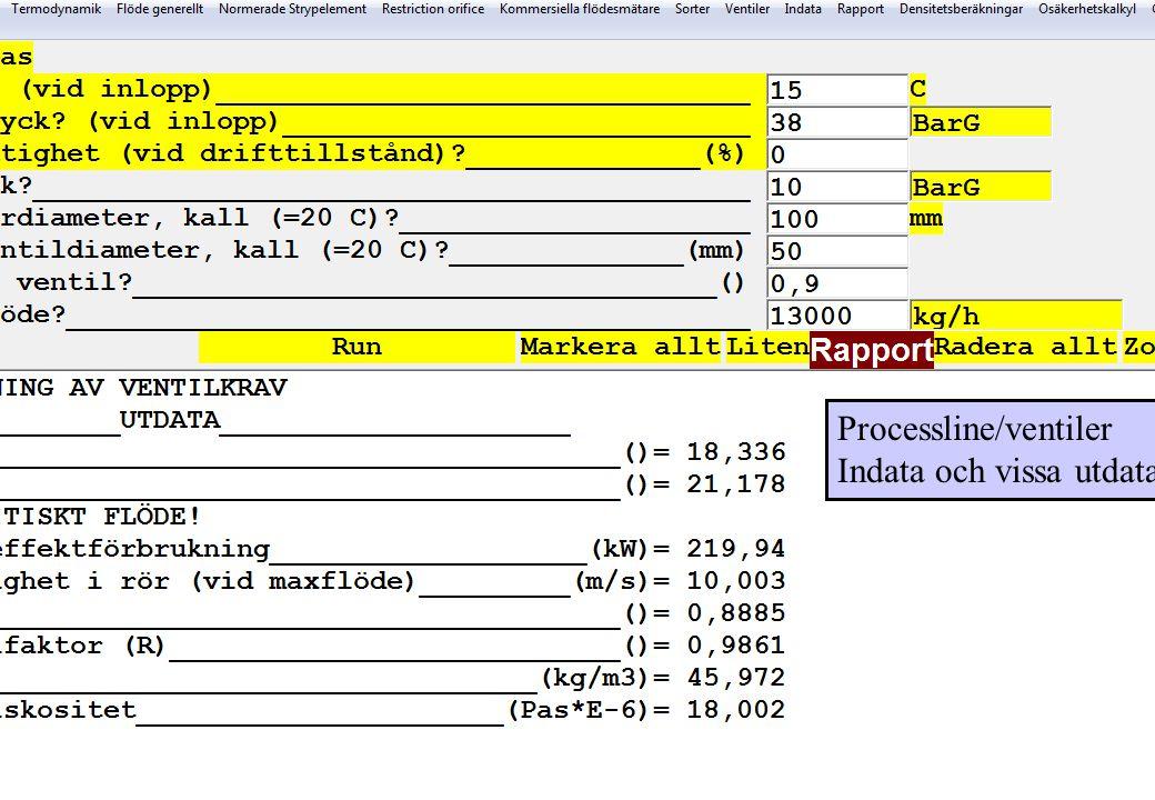 copyright (c) 2012 Stefan Rudbäck, Matematica,+46 708387910, mail@matematica.se, matematica.se sid 42 Processline/ventiler Indata och vissa utdata