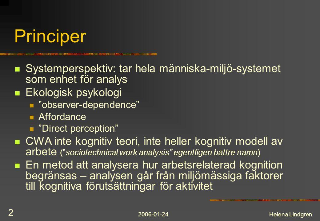 2006-01-24Helena Lindgren 23 DCOG Hutchins vill definiera distribuerad kognition i ett vidare perspektiv: