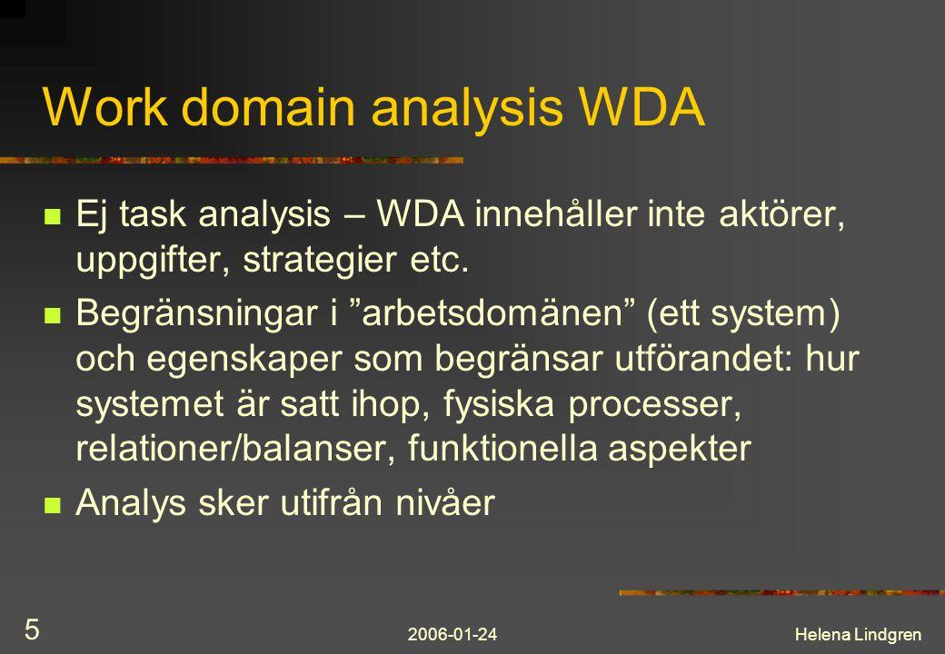 2006-01-24Helena Lindgren 16 Contextual Design Sequence Work Model Ordnad sekvens av steg i utförandet av en aktivitet Omständigheter som initerar aktivitet Syftet som driver aktiviteten Physical Models Work artifact, work place, the overall environment