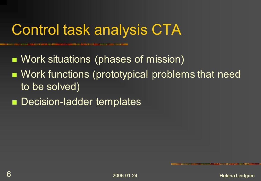 2006-01-24Helena Lindgren 7 Control task analysis CTA