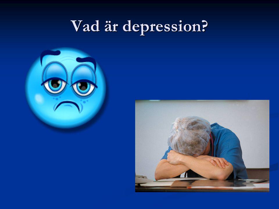 Vad är depression?