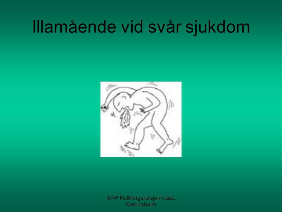 SAH Kullbergska sjukhuset, Katrineholm Förekomst Illamående är vanligare hos kvinnor än män.