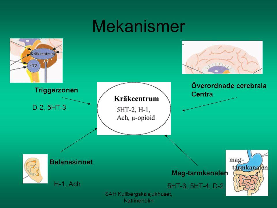 SAH Kullbergska sjukhuset, Katrineholm Grundtanke Valet av behandling beror på orsaken till illamåendet.