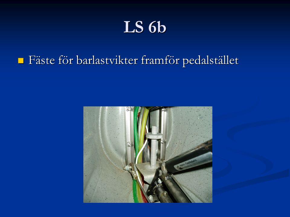 LS 6b Fäste för barlastvikter framför pedalstället Fäste för barlastvikter framför pedalstället