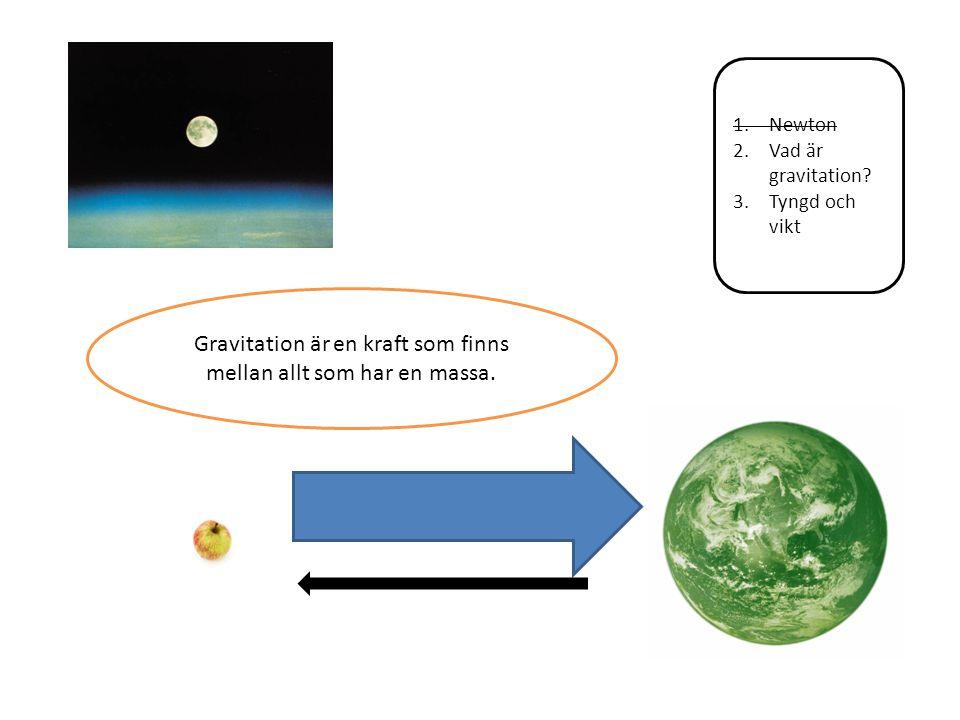 1.Newton 2.Vad är gravitation? 3.Tyngd och vikt Einstein har en förklaring.