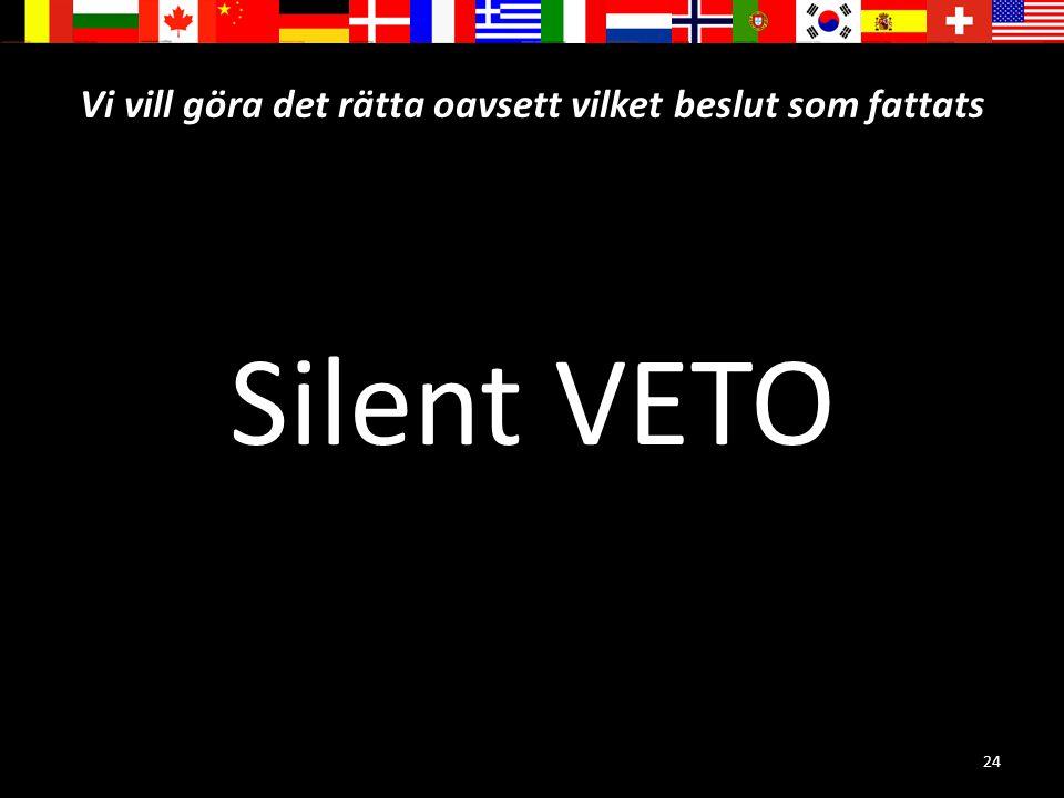 24 Vi vill göra det rätta oavsett vilket beslut som fattats Silent VETO