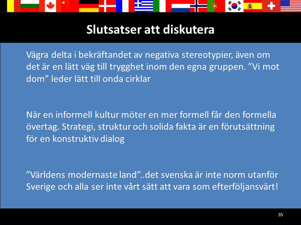 """35 Slutsatser att diskutera Vägra delta i bekräftandet av negativa stereotypier, även om det är en lätt väg till trygghet inom den egna gruppen. """"Vi m"""
