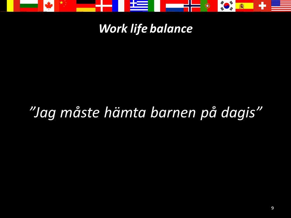 """9 Work life balance """"Jag måste hämta barnen på dagis"""""""