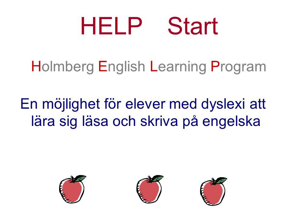 Helpstart holmberg english learning program en möjlighet för elever