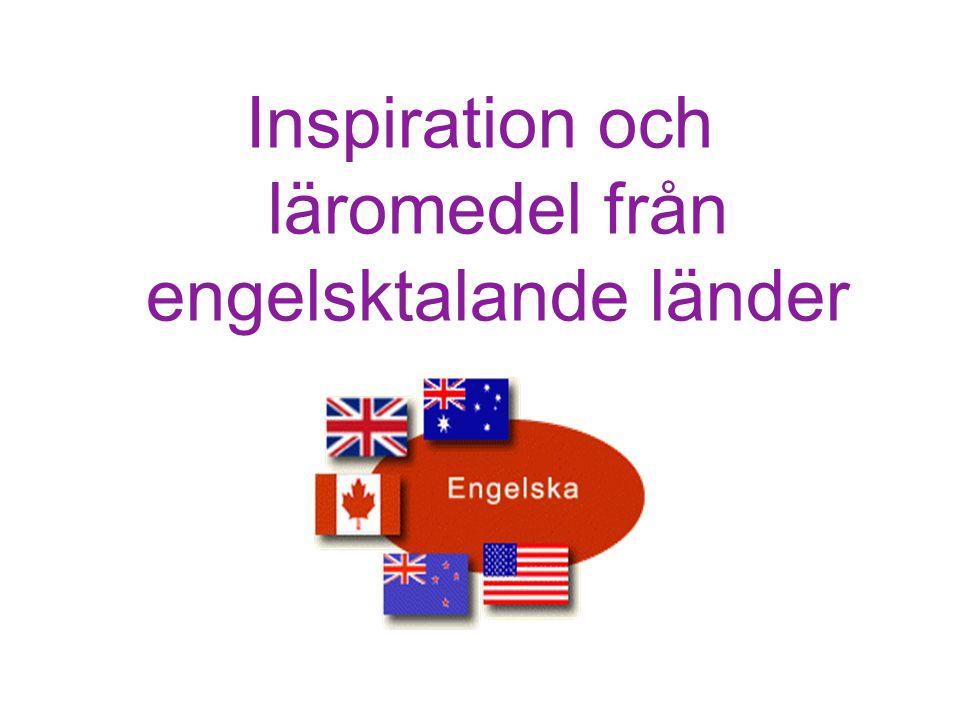 Inspiration och läromedel från engelsktalande länder HELP Start Malin Holmberg