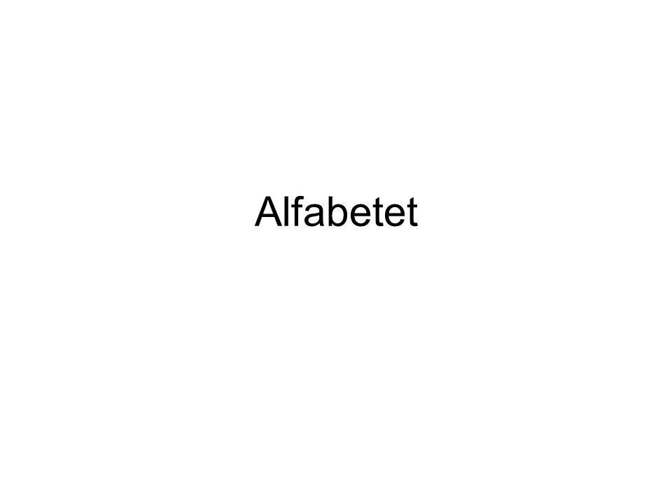 Det svenska alfabetet har 29 bokstäver Bokstäverna kan delas upp i två olika grupper: - VOKALER = 9 stycken - KONSONANTER = 20 stycken