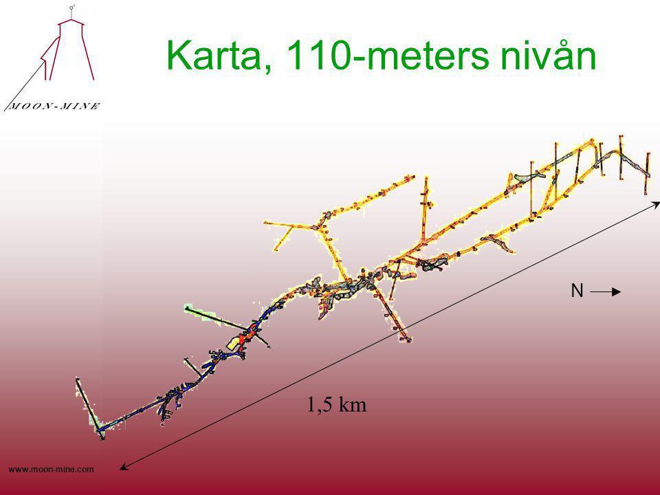 www.moon-mine.com Karta, 110-meters nivån N 1,5 km