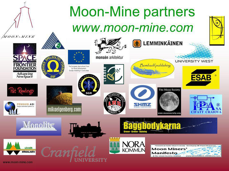 www.moon-mine.com Moon-Mine partners www.moon-mine.com