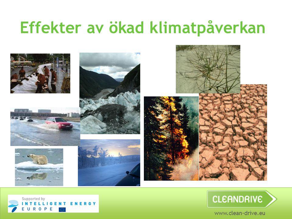 www.clean-drive.eu Effekter av ökad klimatpåverkan