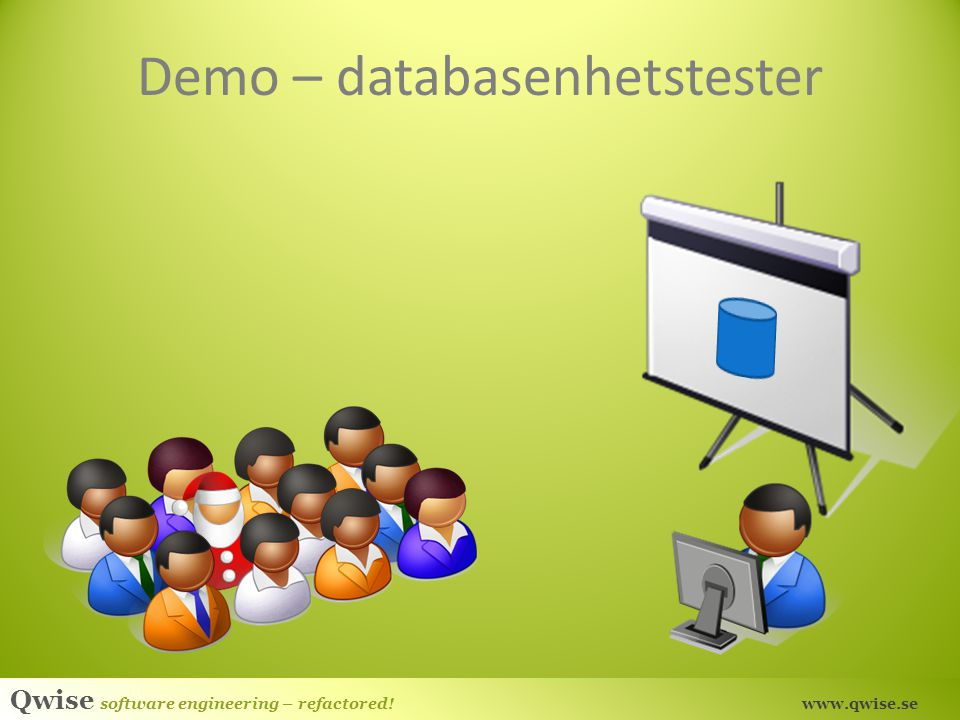 Qwise software engineering – refactored! www.qwise.se Demo – databasenhetstester