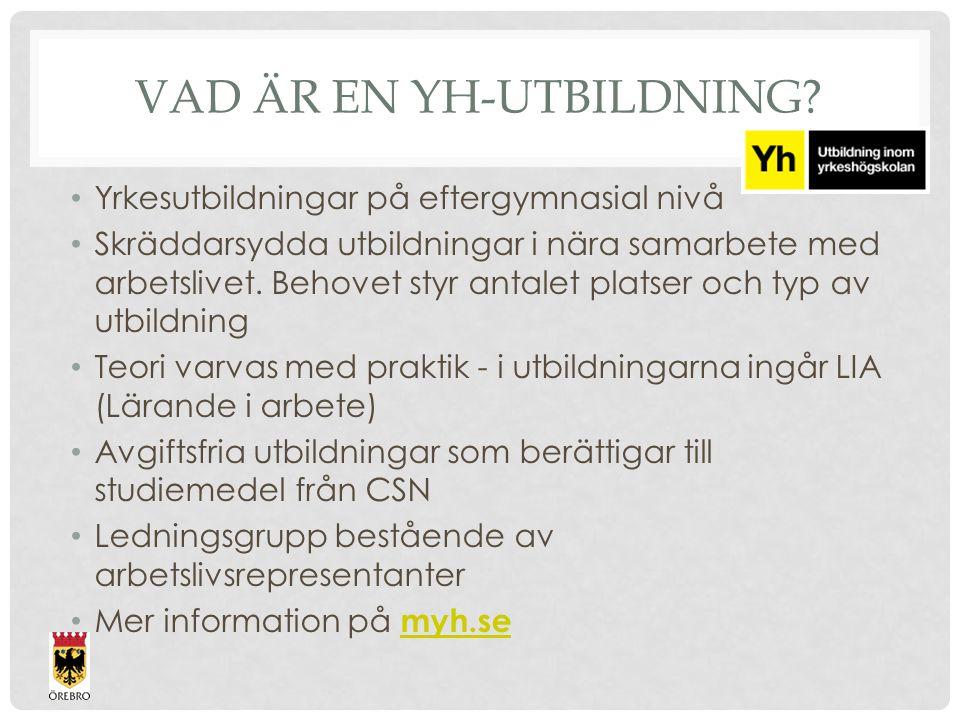 ANTAGNING Behörighetsprövning 1.Behörig att antas till YH-utbildning 2.