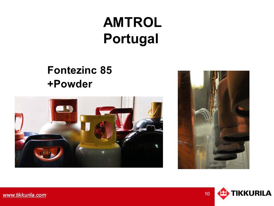 10 www.tikkurila.com Fontezinc 85 +Powder AMTROL Portugal