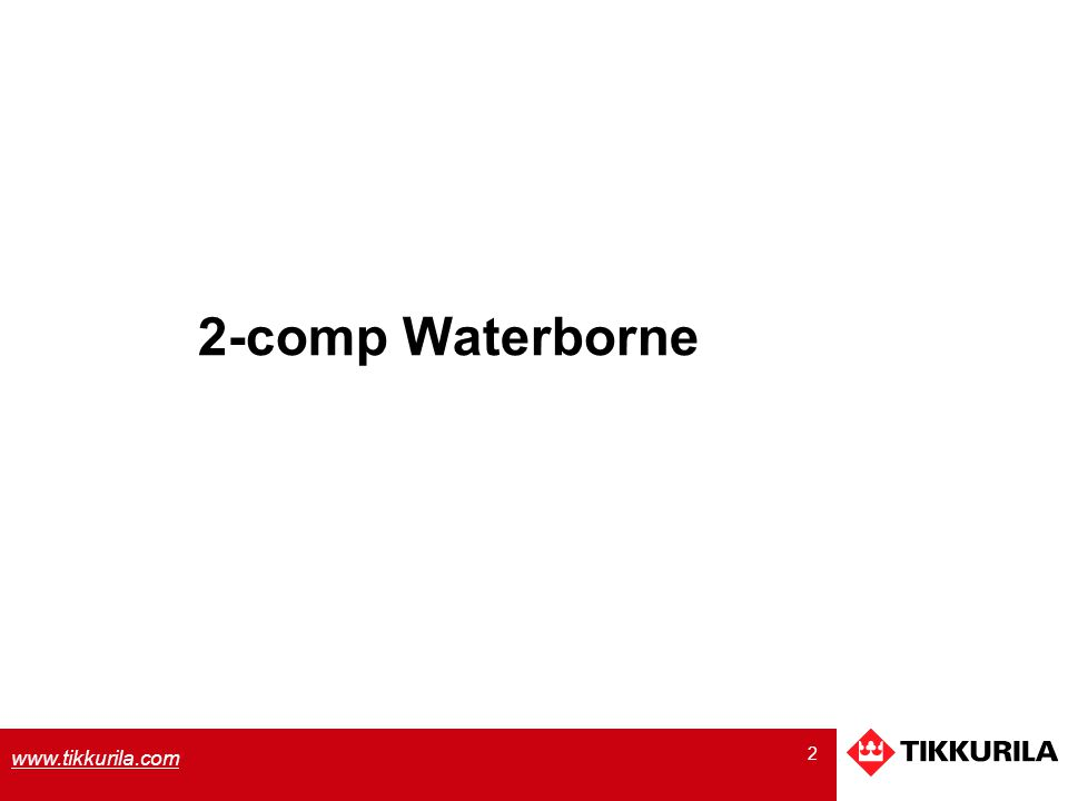2 2-comp Waterborne
