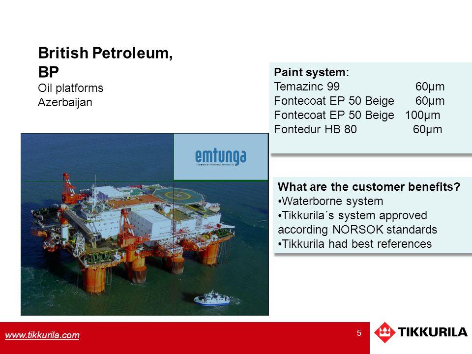 6 www.tikkurila.com Nordeon System C5M NORSOK Företag: E.ON Netz Offshore.
