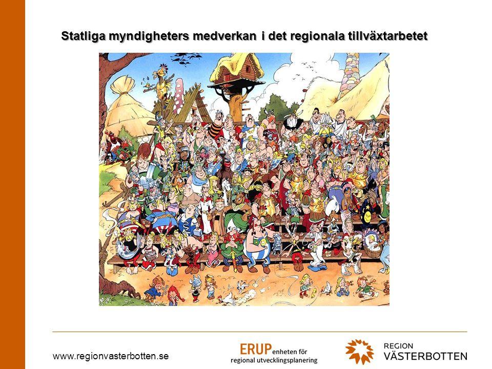 www.regionvasterbotten.se Nationella myndigheters medverkan TID RTA RTP RUS VISANU Tematisk myndighets- samverkan