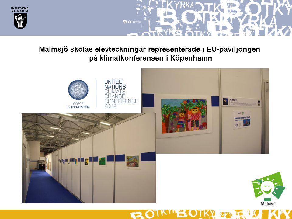 Malmsjö skolas elevteckningar representerade i EU-paviljongen på klimatkonferensen i Köpenhamn