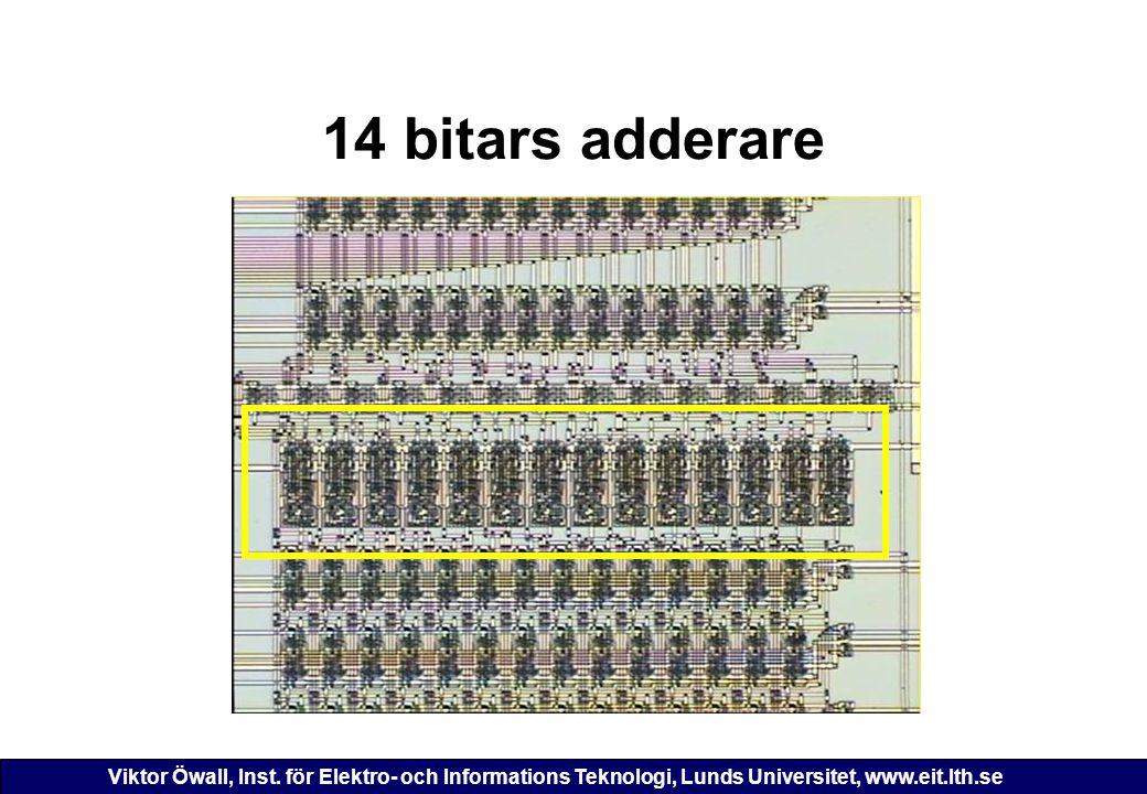 Viktor Öwall, Inst. för Elektro- och Informations Teknologi, Lunds Universitet, www.eit.lth.se 14 bitars adderare