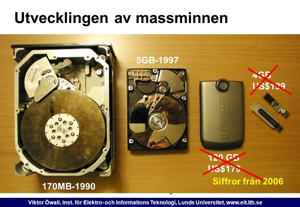 Viktor Öwall, Inst. för Elektro- och Informations Teknologi, Lunds Universitet, www.eit.lth.se 2006-11-16ETI 125 - Föreläsning 1148 Utvecklingen av ma