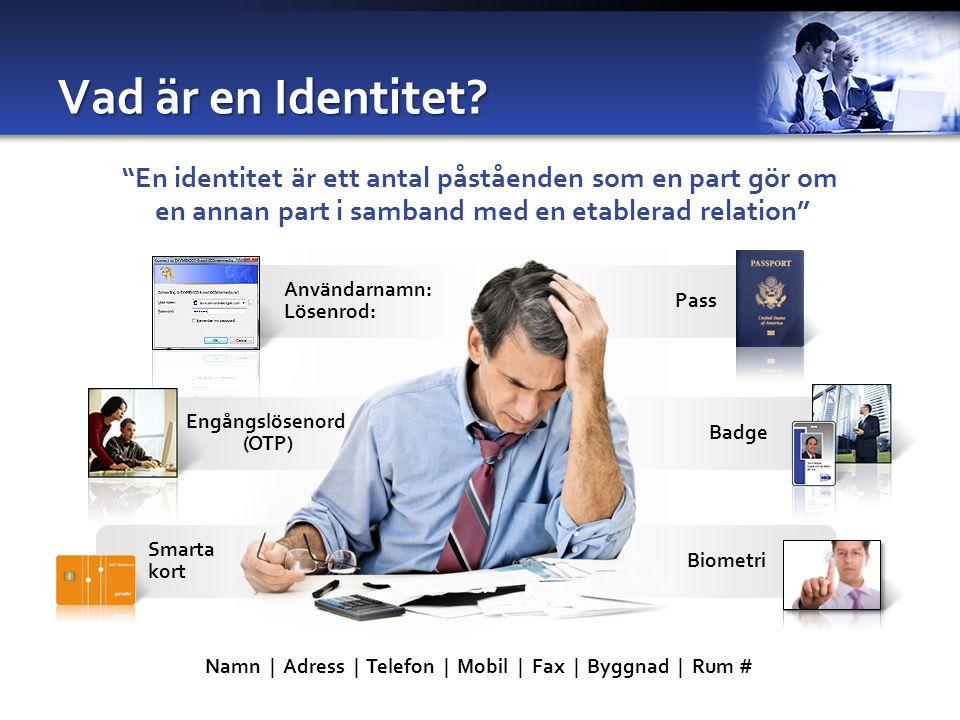 Engångslösenord (OTP) Vad är en Identitet.