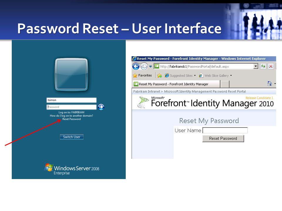 Password Reset – User Interface